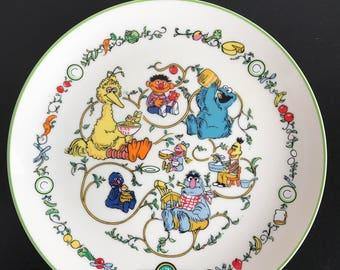 Gorham Sesame Street Plate 1976 Collectible Japan