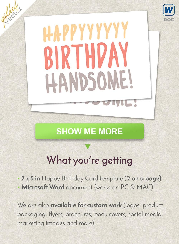 DIY feliz cumpleaños guapo amante de la tarjeta de cumpleaños