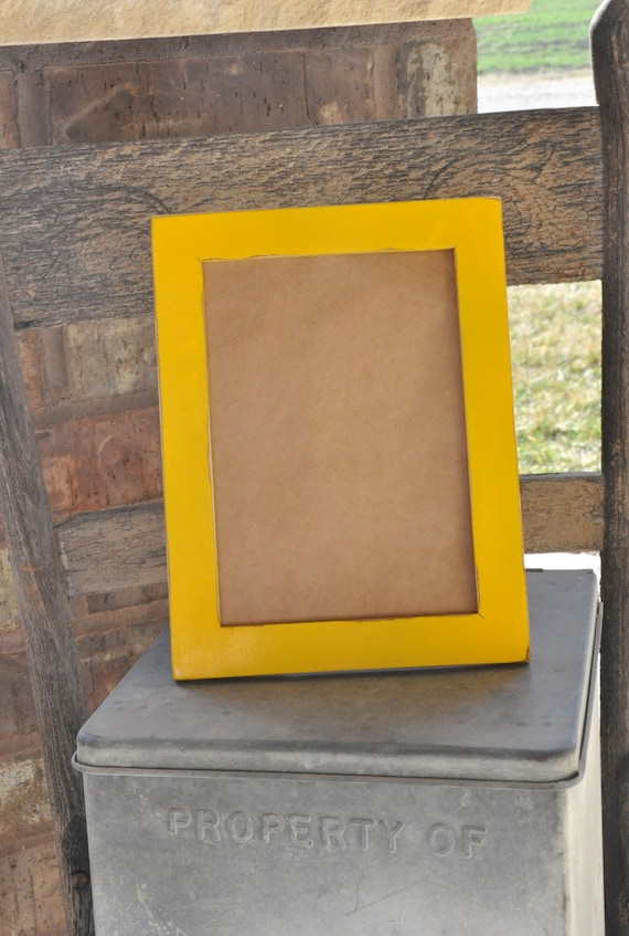 Amarillo pintado a mano dificultades 5 x 7 marco mesa caballete ...