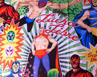 BTY  Super Lucha Libre - The Alexander Henry Fabrics Collection 100% Cotton