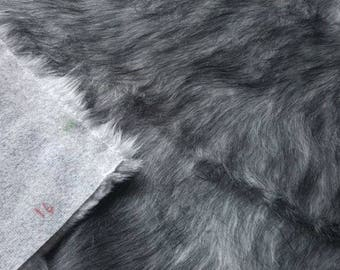 Fabric Fur artificial FU 09 gray melir | Per Metre