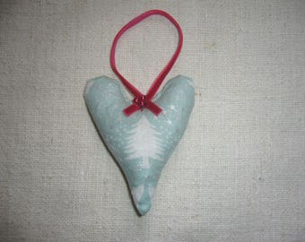 Christmas Tree Decoration - Lavender Filled Christmas Heart Decoration
