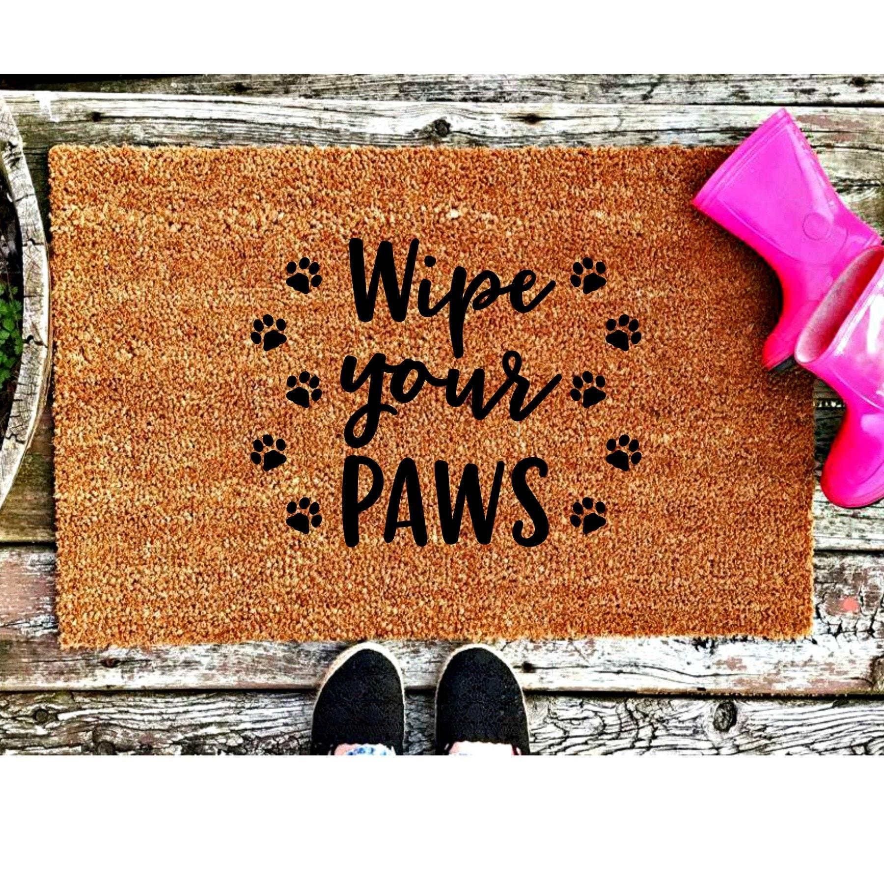 Wipe Your Paws Door Mat Wipe Your Paws Coir Door Mat Small