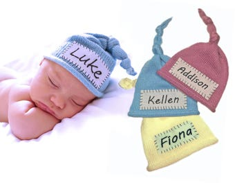Baby Coming Home Hat Baby Hospital Hat Custom Baby Hat With Name Boy Coming Home Hat Girl Coming Home Hat Personalized Beanie Newborn Name