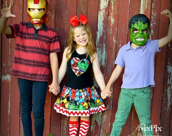 girls Marvel dress hulk 4/5 6/6X 7/8 10/12 14/16 ready to ship