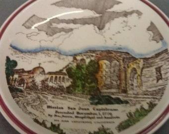 Vernon kilns Mission San Juan Capistrano Plate