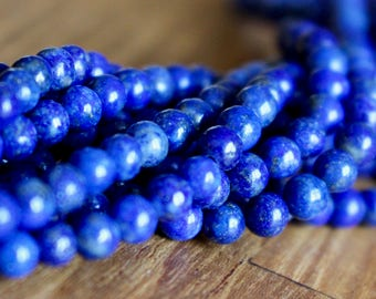 4mm Lapis Lazuli beads, full strand, natural stone beads, round, 40007
