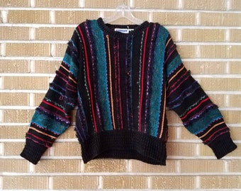 90s Cosby sweater -large-