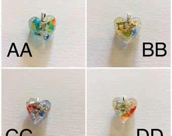 Okinawa Torii Gate Star Sand Heart Necklace