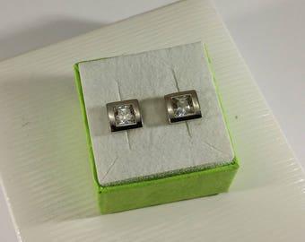 Earring Earrings Silver 925 Crystal Stainless SO294