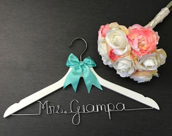 Personalized Hanger - Mrs Hanger - Monogrammed Hangers - Bride Dress Hanger - Bridal Wedding Dress Hanger - Bride to Be Hanger - Name Hanger