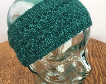 Handknit Merino Wool Headband, #018