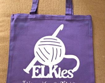ELKies Canvas Tote or Gusset