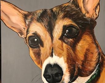 Custom Painted Pet Portraits-Acrylic on canvas