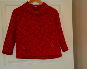 60's Ruby Red Evening Jacket