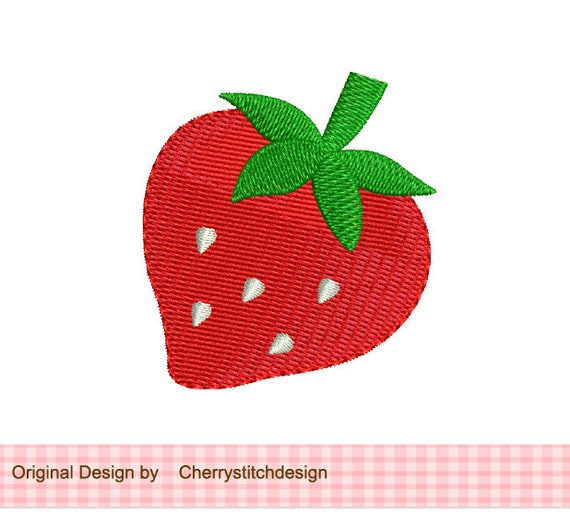 Strawberry Mini Filled Stitches Machine Embroidery Design From