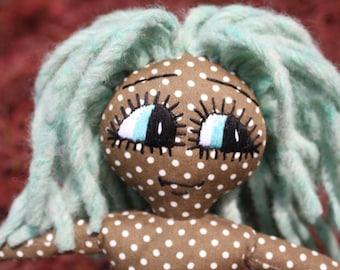 Handmade Rag Doll / OOAK / Cloth Doll / Ditsy Prints / Quirky / Spotty
