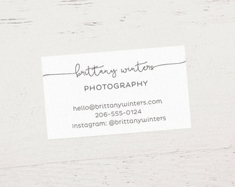 Custom Printed Business Cards, Etsy Business Cards, Printed Business Cards, Etsy Shop Cards, Calling Cards - Design #01 (Satin White)