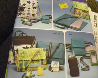 Sewing Pattern - Simplicity 4391 - Laptop bag x2, Messenger Bag, Game System Tote, Cell Phone Case, Music Player Case, Camera Case