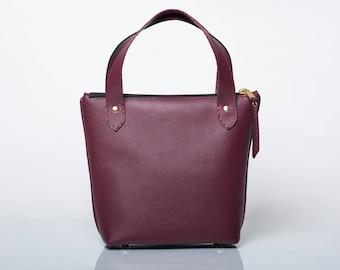 Burgundy Handbag/ Burgundy Purse/Tote Bag