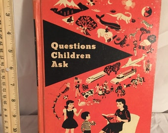 Questions Children Ask Vintage Childrens Text Book 1968 Illustrated