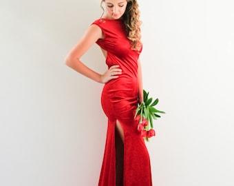 Anastasia Velvet Gown