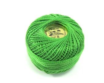 Finca Perle Cotton Thread Pearl Cotton - Kelly Green