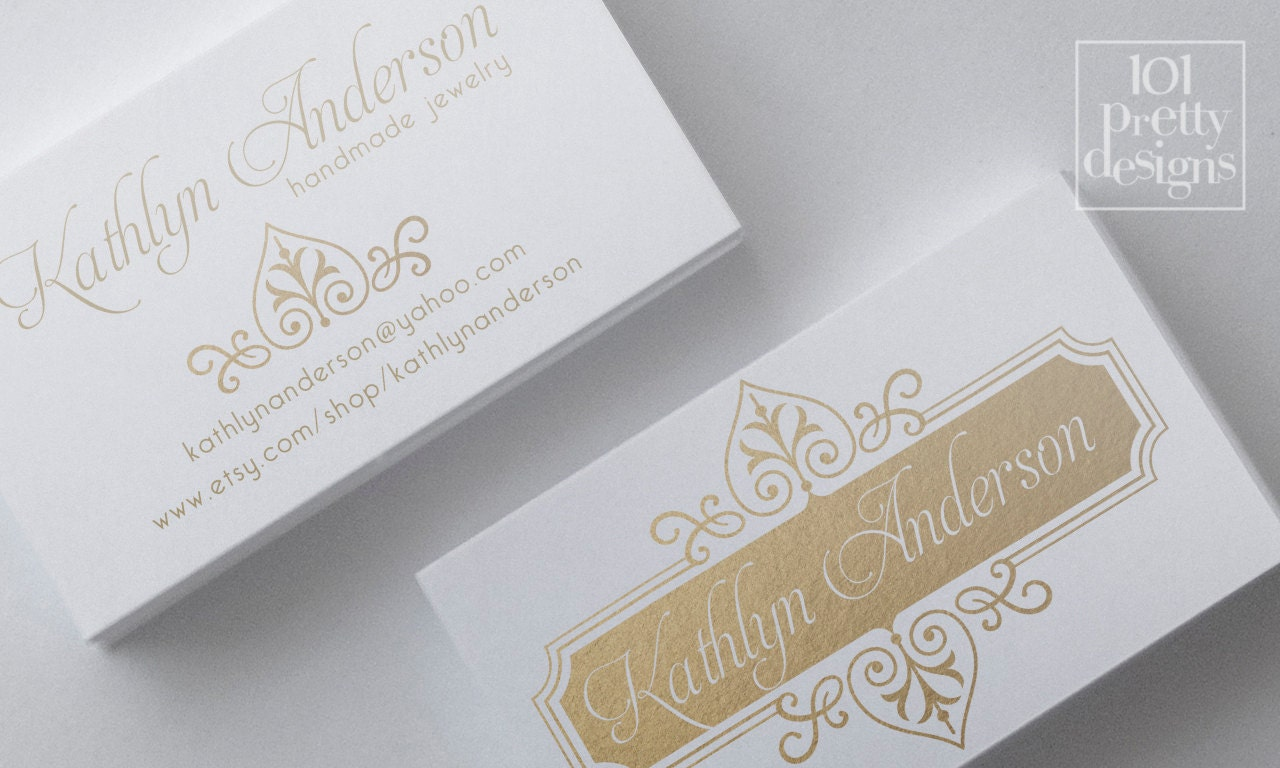 Gold foil business card template elegant business card