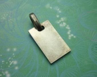 Vintage Sterling Silver Dangle Charm - Tag 1