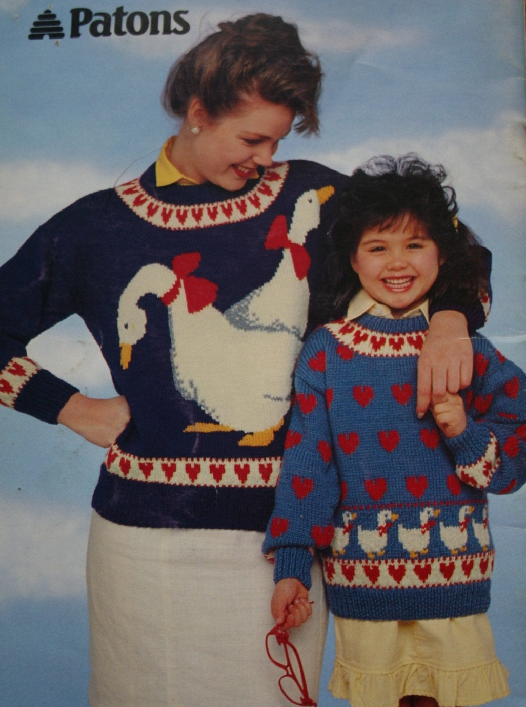 Sweater Knitting Patterns Animals Young at Heart Beehive Patons 607 ...