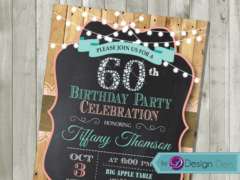 60th Birthday Invitations For Women Choice Image - coloring pages adult
