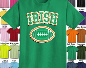 Irish Football design T-Shirt - Adult Unisex - We carry sizes S - 5XL in 30 Colors!