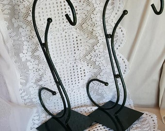 Twin Hunter Green with a splash of Gold Metal Stand Display Center Piece