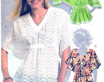 Womens summer tops casual plus size spring fashion sewing pattern McCalls 5384 Size Lg to XXL Uncut