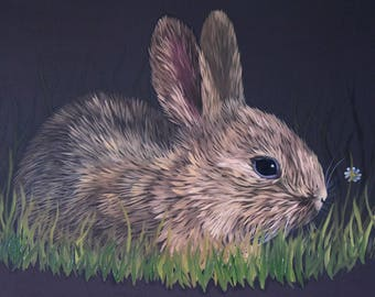 Baby Bunny - original oil painting