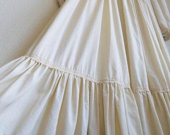 Vintage Gunne Sax Dress | Boho Wedding Dresses | Cream White Prom Gown | Jessica McClintock Gowns | Bohemian Weddings