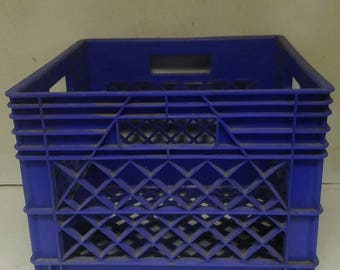 Plastic milk crate