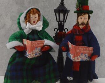 Singing Carolers Collectible Figures Christmas Decor Victorian Art