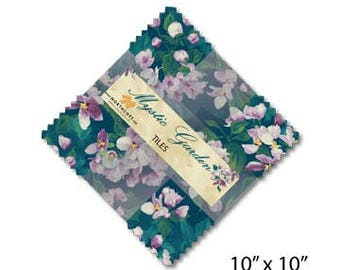 Mystic Garden by Northcott 10 inch square pre cut Quilt Fabric Bundle