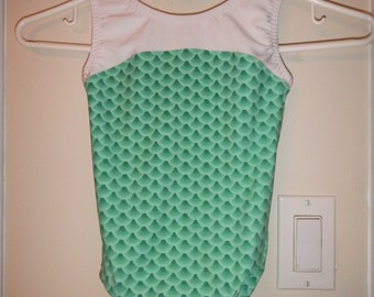 New Gymnastic Leotard - Green Mermaid - Child Size 2 to 12