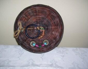 """Chinese Sewing Basket 9"""" Sewing Basket Vintage"""
