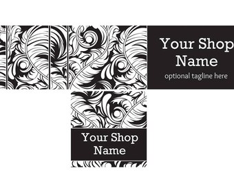 Dark Shop Banner, Shop Cover and Shop Icon, Dark Cover Graphic, Dark2