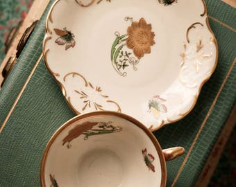 Winterling Bavaria Germany Gold Rimmed Teacup and Saucer