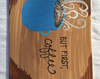 But first, coffee painting