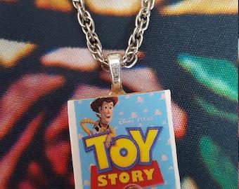 Toy Story Necklace, Pixar, Disney, Buzz Lightyear, Woody, Scrabble