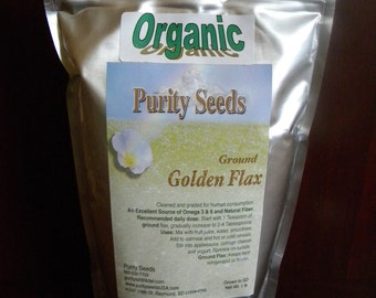 100% Organic Purity Seeds Ground Golden Flax Seed