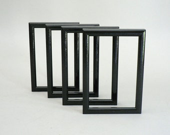 Wall Gallery Black Wood Picture Frame Set of Four