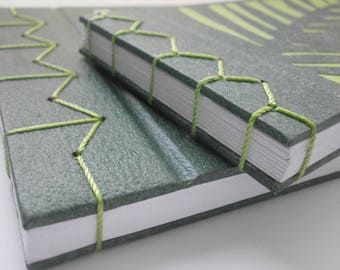 Sketchbook, Evergreen, Japanese stitching, sketch book