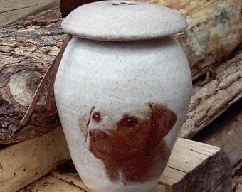 Dog Urn Yellow Labrador Retriever 50 lb Pet Urn