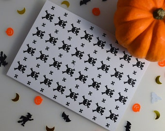 Halloween Skull Greeting Card